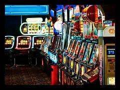 just machines (Mallybee) Tags: gambling colourful onearmbandits slot cleethorpes 60mmf28art sigma lumix mallybee machines dcg9 g9