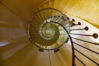 Spiral stairway || Amédée lighthouse