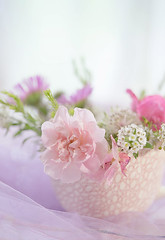 Pinks... (borealnz) Tags: flowers cup pink arrangement soft
