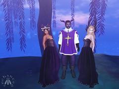 Three—but only one Musketeer! (gwen.enchanted) Tags: maitreya vista lumae theplastik truth mishmashfusion violetility unrepentant realevilindustries fantasyfaire2018 ff2018 willowsofnienna titans solarium kiliklekvoda