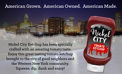 Nickel City Ketchup with Skyline (RedGoldHR) Tags: buffalo new york ny nickel city ketchup wny condiment western latina us foods tim ingle red gold bills nfl