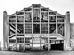 Asbury Casino (What's left), Asbury Park NJ (Steve Stanger) Tags: asburypark asbury asburyparknj nj newjersey olympus olympusomdem10markii olympusm1442mmf3556ez blackandwhite bw silverefexpro beach shore jerseyshore