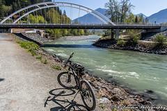 Vedder River Bridge (R. Sawdon Photography) Tags: sardis chilliwack vedderriver rotarytrail fraservalley water bike bikepath shoreline trees britishcolumbia