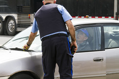 Issuing a parking ticket, part 1 (jer1961) Tags: toronto bloorstreet theannex ticket parkingticket parkingenforcement torontoparking parkingcop torontoparkingcop illegalparking