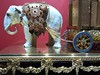 Evanston, IL, Halim Time & Glass Museum, China Elephant Pulling a Carriage Clock (Mary Warren 10.6+ Million Views) Tags: evanstonil halimtimeandglassmuseum art china ceramic elephant carriage gold table