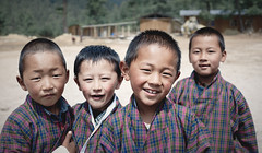 Bhutan: School Children of Haa Valley II. (icarium82) Tags: bhutan drukyul himalayas travel captureone child haavalley localpeople naturallight portrait schoolchildren rural sonydscrx1rm2 streetportrait street traditionalclothing traditionaldress