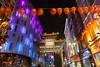 伦敦华埠 china town - london (nzfisher) Tags: chinatown london night cityscape city cultural uk 24mm landscape canon longexposure red lantern architecture purple blue arch soho 英伦呈祥 colour