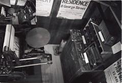 Printing Press (The_Krycek_Facility) Tags: leica m6 blackandwhite black white filmisnotdead believeinfilm beli believe film hc110 ilford hp5 color skopar 35mm analogue street streetphoto streetphotography
