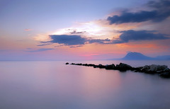 Shadows Romance (Bo.Th) Tags: quiet silence relax sea water seaside seascape colors clouds sunset sun waterfront outdoor dock sky landscape mountain rock romantic greece