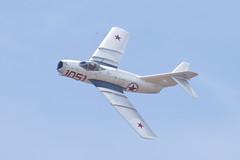 Planes of Fame Mikoyan-Gurevich MiG-15 NX87CN (jbp274) Tags: cno kcno airport airplanes airshow display restored vintage warbird mikoyangurevich mig15 planesoffame