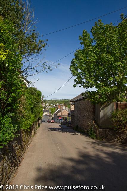 Looking down the Old Tiverton Road, Bampton, Devon