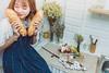 _MEO9370 (Davic (N)) Tags: girl dress blue fresh short hair beautiful bread tea sad alone