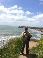 Ali, Pidgeon Point lighthouse in the background, Photo by CRudin (ali eminov) Tags: pacificcoast california ali lighthouses pigeonpointlighthouse