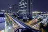 Daiba (spiraldelight) Tags: tse17mmf4l eos5dmkii odaiba お台場 tokyo 東京 traffictrails lightstream night cityscape