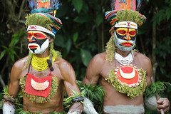 Two Coloured Faces (AdjaFong) Tags: papuanewguinea