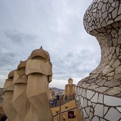 La Pedrera [V] (Olivier So) Tags: spain españa catalonia catalunya barcelona gaudi lapedrera casamilà worldheritagesite modernist building architecture rooftop modernista