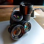 Four of my favorite manual lenses thumbnail