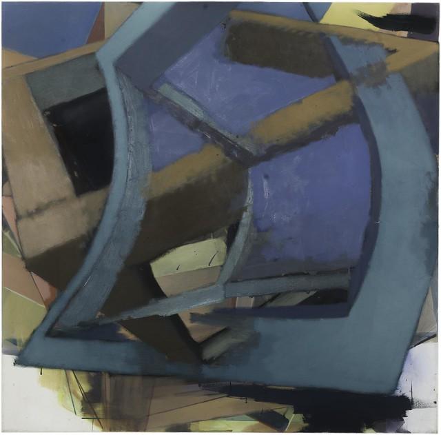 bend1t,100x100cm, Eggtempera,Oil/Pigment, 2015