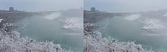 Rainbow Bridge Niagara Falls 3D Cross View (HDR) (JonGames) Tags: bridge rainbowbridge water niagarafalls niagara canada waterfall mist ice plants winter cold 3d depth stereo stereogram hdr cross crossview crosseyes