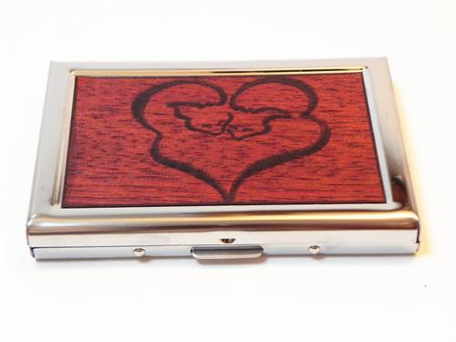Fox Wallet - Mahogany Wood Foxes, fox wallet, heart wallet, fox case, fox box, fox heart, foxes hearts, curled fox, loving fox, love, union by ResoluteStar