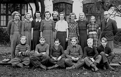 Class photo (theirhistory) Tags: children kids boys girls school class group form teacher jacket jumper trousers wellies rubberboots