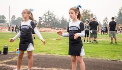 Cheering in Molalla (pete4ducks) Tags: oregon molalla 2017 mady madelyn mountainsidemavericks 500views cheerleaders cheerleading kids children girls football