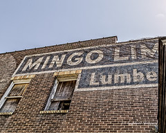 Mingo Lumber (augphoto) Tags: augphotoimagery abandoned architecture building business commercialism decay exterior letters old sign signage structure text texture weathered words williamson westvirginia unitedstates