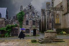 L'abbé est en retard (Xtian du Gard) Tags: xtiandugard montage locronan pluie mauvaistemps météo abbé curé maisonsanciennes granit