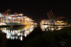 Burchardkai, Hamburger Hafen (Nordtysk) Tags: hamburg hafen burchardkai schiffe night harbor