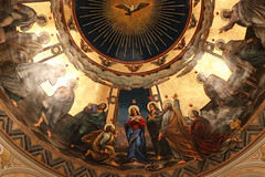 Pentecost (Lawrence OP) Tags: biblical pentecost stjohns seminary boston apse mural holyspirit dove fire painting blessedvirginmary apostles