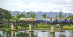 Bridge over the river Kwai (Steve4343) Tags: steve4343 bridge over river kwai william holden alec guinness kanchanaburi thailand western west blue red green colors train tracks world war ii prisoners allied japanese