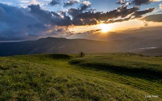 Sibillini - tramonto ai Prati di Ragnolo (MC)