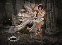 "SWANK - ""Fragile Angel"" by IrrISIStible (lilyanarcana) Tags: swank irrisistible angel fantasy algesdesigns makeup lips eyes wings maitreya secondlife thelookingglass curiouskitties"