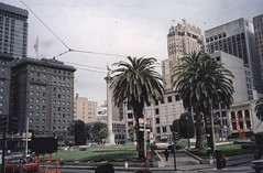 San Francisco  California  - Union Square - Historic (Onasill ~ Bill Badzo) Tags: old department stores american unionsquare palm trees nrhp hotels shopping plaza downtown central theaters district landmark boutique galleries grand dewey monument greek goddess victory manila battle 1903 fairmount fairmont cift kimpton sir francis drake hotel stanford court san francisco garden green common vintage photo onasill 5th avenue saks