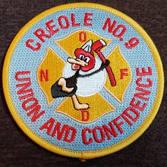 New Orleans Fire Department Engine 9 Patch (cozmosis) Tags: neworleans louisiana firedepartment nofd firedept fd orleansparish patch firedepartmentpatch patchcollection firefighter firefighting fireservice uniform uniforms emblem insignia embroidered embroidery