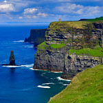 The Cliffs of Moher and O'Brien's Tower -- County Clare Ireland April 2018 thumbnail