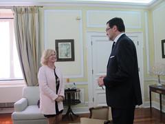 Isabel Meirelles recebe o Embaixador da Bulgária