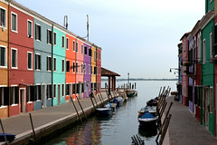 colored houses in Burano - Italy
