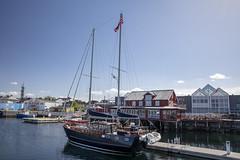 Sailboat in harbor (G E Nilsen) Tags: sailboat harbor brønnøysund houses buildings norway nordnorge northernnorway norwegiancoast