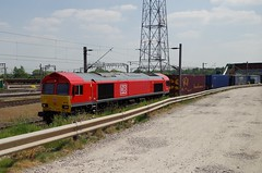66175 - 4S49 - Crewe Basford Hall - 19-05-18 (techno-phobe) Tags: train locomotive diesellocomotive class66 shed crewebasfordhall crewe dbs dbschenker dbcargo 66175 4s49 freighttrain freight