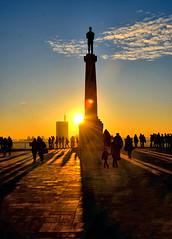 belgrade sunset (poludziber1) Tags: street streetphotography skyline sky sunset serbia srbija city colorful cityscape color colorfull capital clouds people silhouette light travel urban