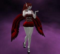 MLCC Sanoria Outfit (moonlitecat) Tags: mlcc fantasy faire sanoria mini dress wings mesh bento slink belleza maitreya tonic tmp