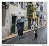 Neighbourhood (Raul Kraier) Tags: neighbours neighbourhood street bairro alto lisbon lisboa portugal umbrella woman canon 6dii rain old friends