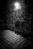 Antique mosaic, Split, Croatia (pas le matin) Tags: mosaic mosaique antique vestige travel world voyage split croatia croatie hrvatska nb bw noiretblanc blackandwhite light streetlight lampadaire wall mur canon 7d eos7d canoneos7d night nuit