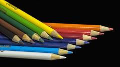 I can colour a rainbow (David Feuerhelm) Tags: nikkor colour red orange yellow green brown black white purple rainbow colourful pencil nikon d750 105mmf28 closeup
