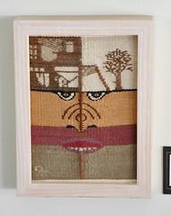Mexico Oaxaca Woven Picture Museums (Teyacapan) Tags: adriangomez weaving tejido oaxaca museo coyotepec face