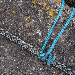 Quayside Rope Trick (vague_logic) Tags: england devon bideford contaxplanar1750 rope quay knot lines