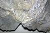 Flint breccia-floored cavity in pinstriple flint (Vanport Flint, Middle Pennsylvanian; Nethers Flint Quarries, Flint Ridge, Ohio, USA) 4 (James St. John) Tags: flint breccia vanport allegheny group pennsylvanian nethers quarry quarries ridge muskingum county ohio quartz pinstripe