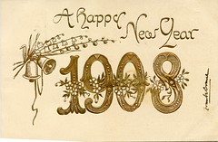 4335 (Ebenezer Maxwell Mansion) Tags: 1900s new year years eve holiday greeting cards postcards design