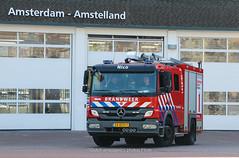 Dutch fire brigade Amsterdam Amstelland (Dutch emergency photos) Tags: brand brandweer fire firetruck truck department firebrigade firedepartment fireengine engine mercedes amsterdam amstelland nederland nederlands nederlandse netherlands dutch capital amsterdamamstelland nico kazerne 999 911 112 emergency vehicle 133131 24bdh7
